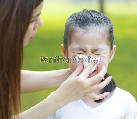 asian girl with flu