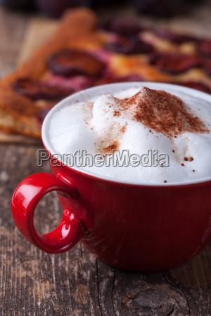 cappuccino with plum chutney