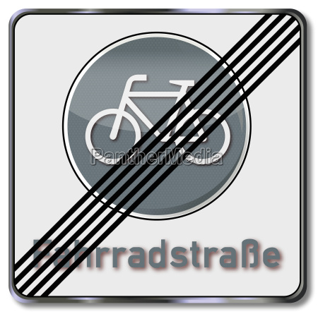 road sign bicycle road