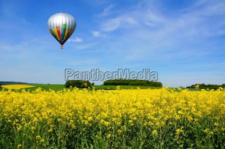 balloon over rape field
