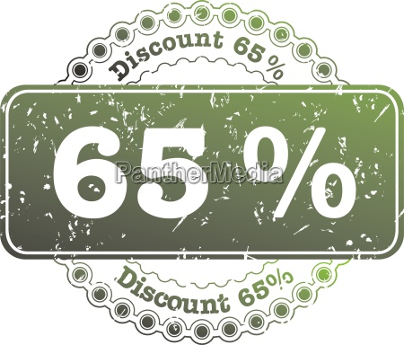 stamp discount sixty five percent