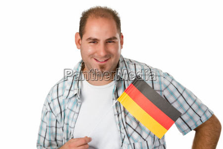 person native flag german supporter fan