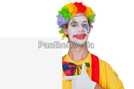 advertising clown