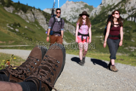 hike in the alps