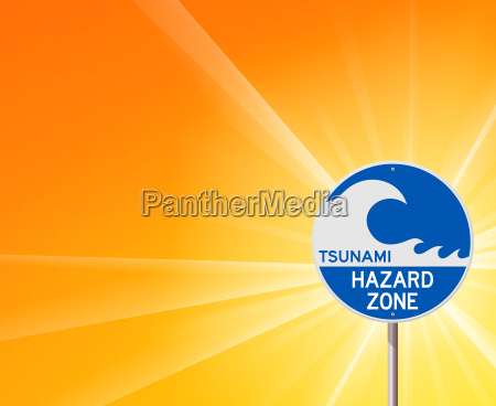 tsunami warning and sunshine
