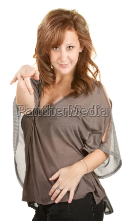 dancing woman pointing