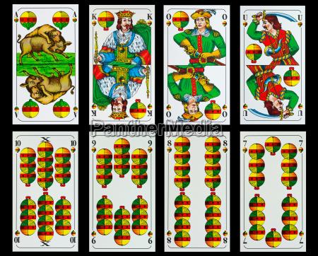 bavarian, playing, cards - 7771099