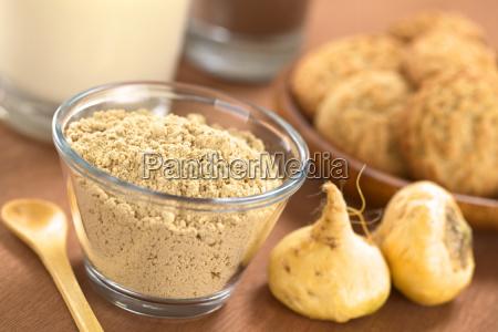 food aliment powder maca macapulver macamehl