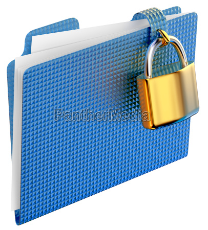 the blue folder with golden hinged