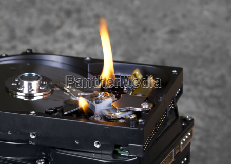burning hard disks
