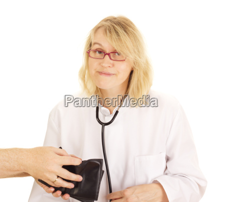 a medical doctor accepts funds