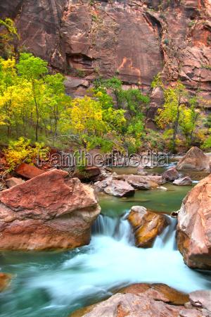 virign river waterfall in utah