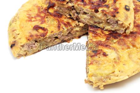 spanish omelet of meat