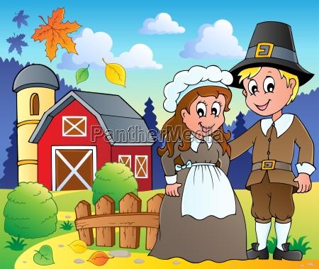thanksgiving pilgrim theme 2