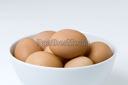 hens eggs in a bowl