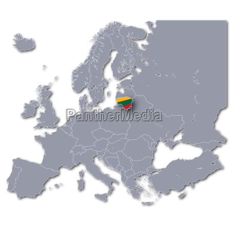 europe map lithuania