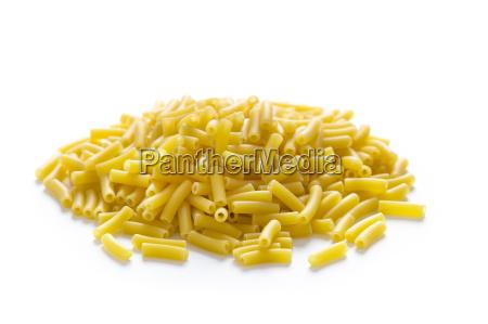 dried macaroni pasta isolated