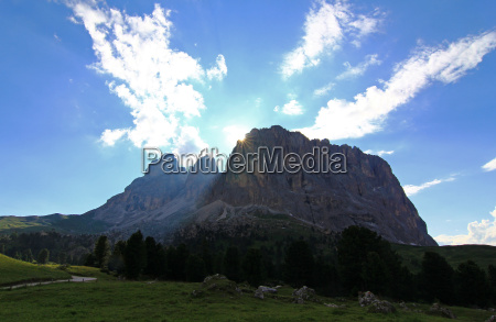 mountains dolomites alps summit sunbeams climax