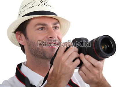 close up of a tourist