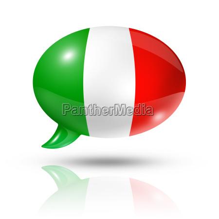italian flag speech bubble