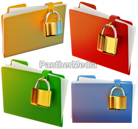set of folders with locks