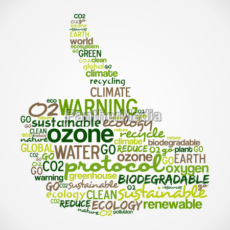go green words cloud about ecology