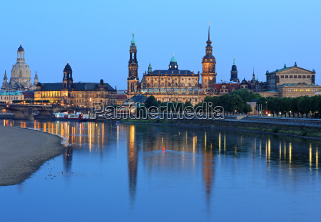 church city town evening tendency dresden
