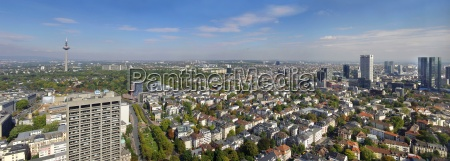 skyline frankfurt am main with television