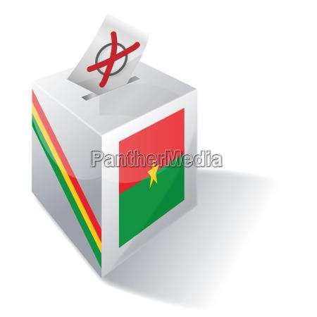 electoral box burkina faso