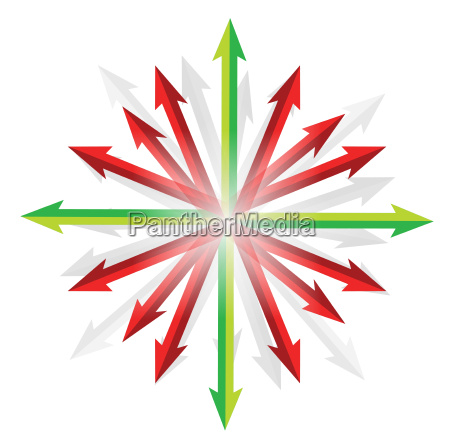 arrows going into different destinations