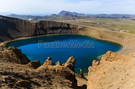 viti crater in krafla volcanic area