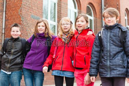 school children in the playground of