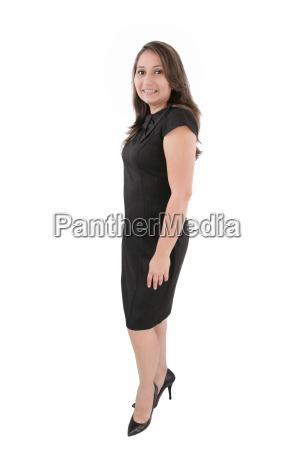 full body portrait of business woman