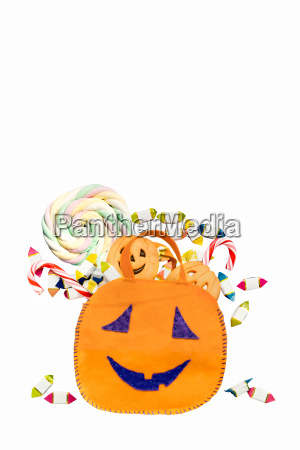halloween bucket with clipping path