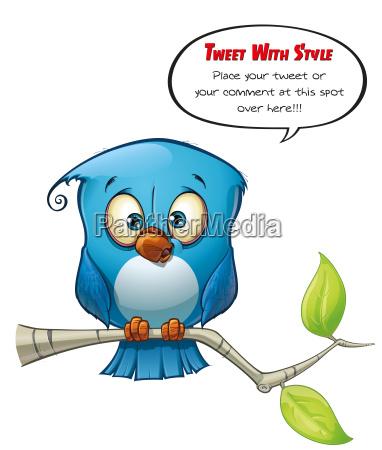 tweeter blue bird open