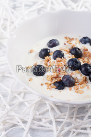 muesli with yoghurt