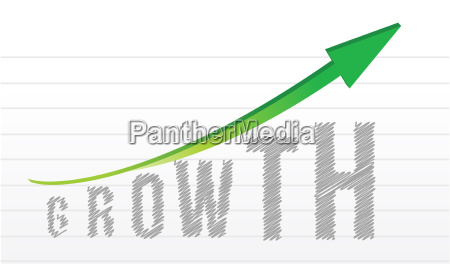 growth graph and arrow over a