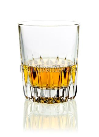 tumbler of whisky or brandy
