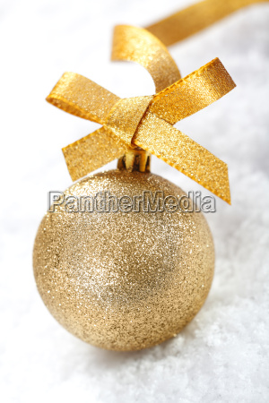gold glitter christmas bauble