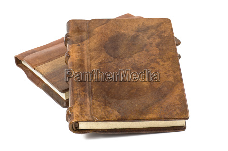 precious books with genuine leather and