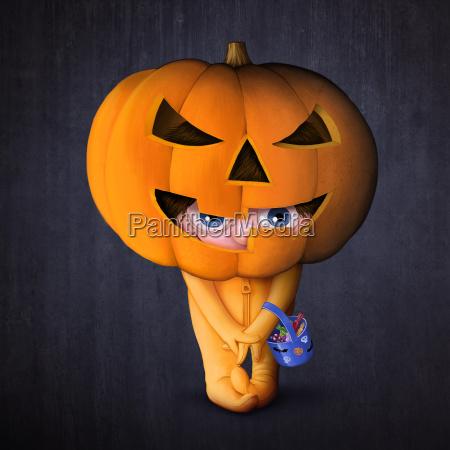 halloween pumpkin mask