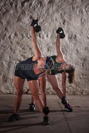 women doing boot camp workout