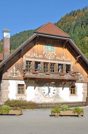 idyll in the hoellental valley near