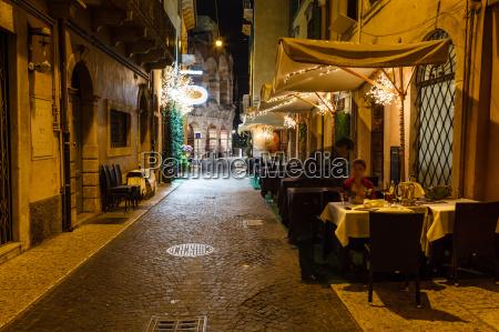 outdoor restaurant in the sidewalk of