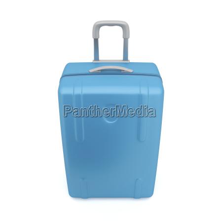 blue travel bag