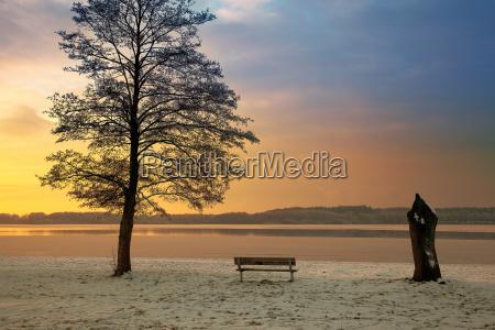 sunset at einfelder lake