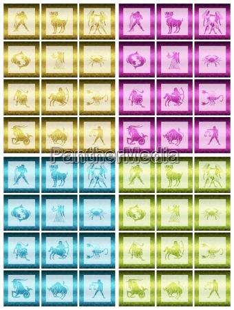 zodiac 4 colours metallic
