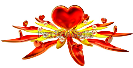 flower from hearts and leaves