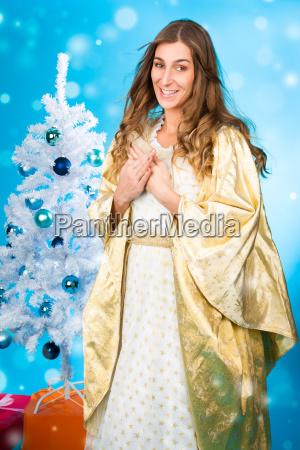 christ child christmas tree at christmas