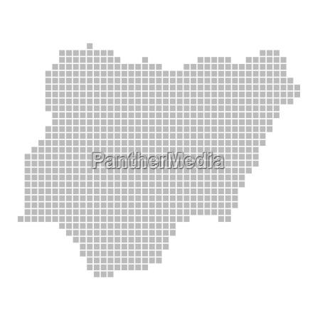 map of pixels nigeria